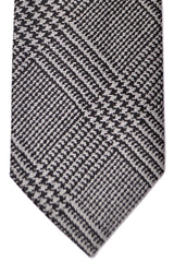 Ermenegildo Zegna Tie COUTURE XXX Gray Black Plaid FINAL SALE