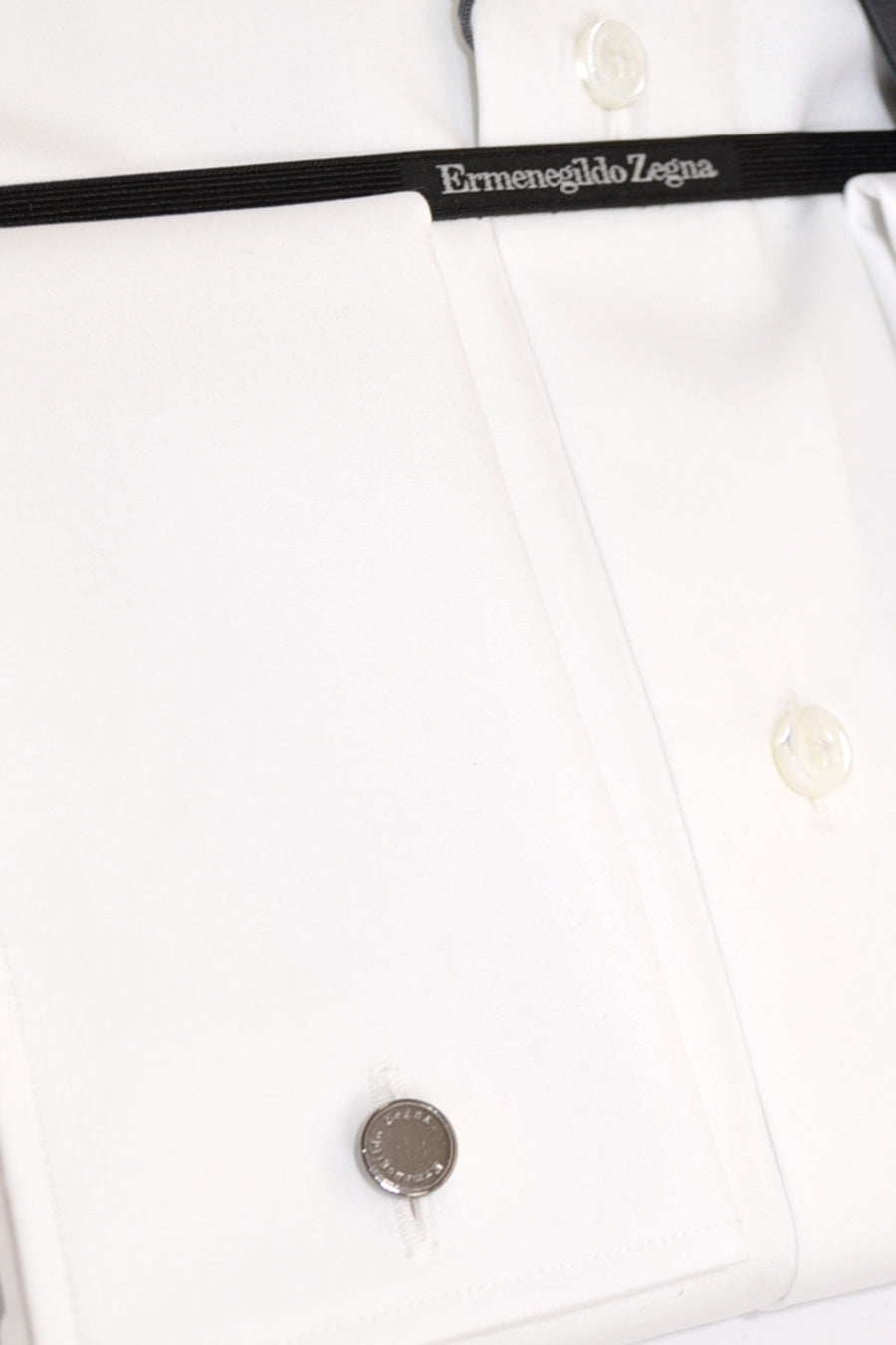 Ermenegildo Zegna Dress Shirt White French Cuffs - Regular Fit 44 - 17 1/2