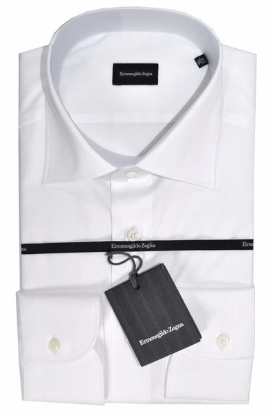 Zegna Dress Shirt White Regular Fit