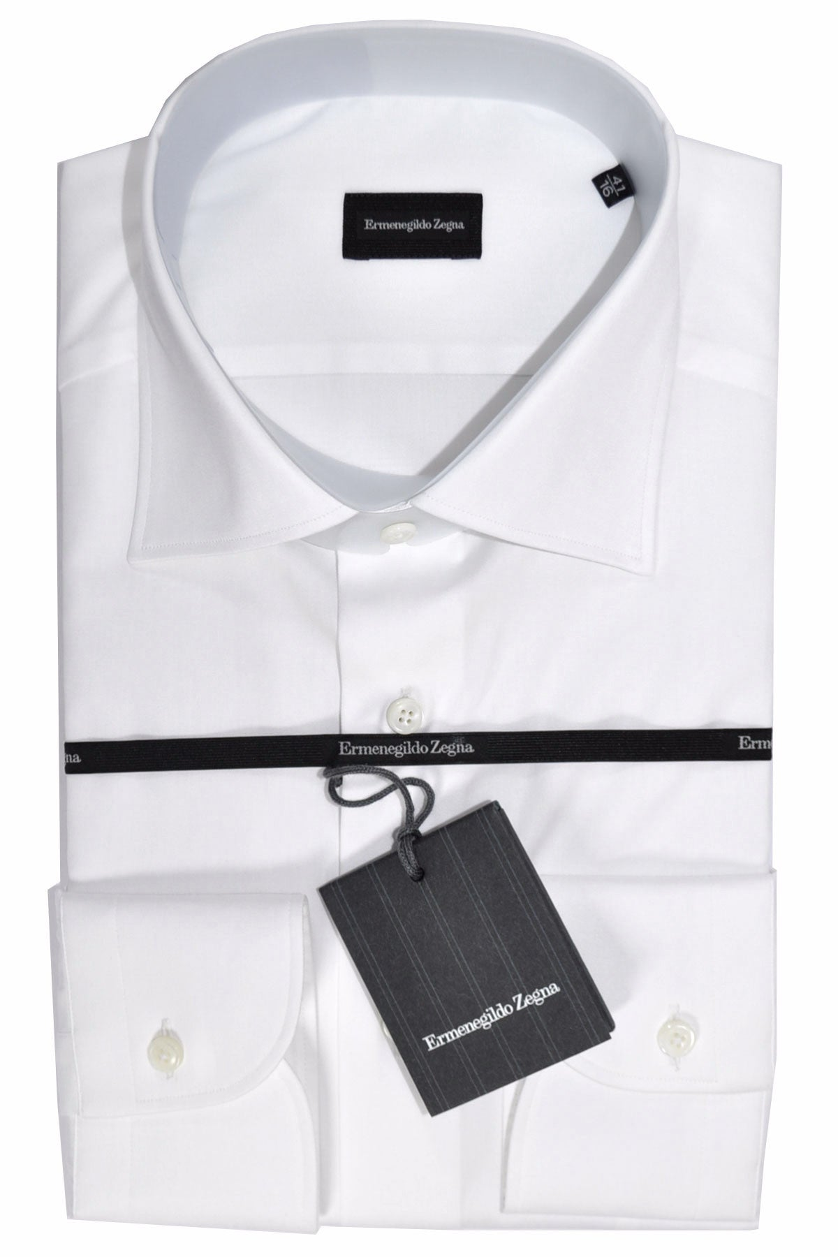 5a23864c Ermenegildo Zegna Dress Shirt White Front Pocket - 38 - 15 Regular Fit