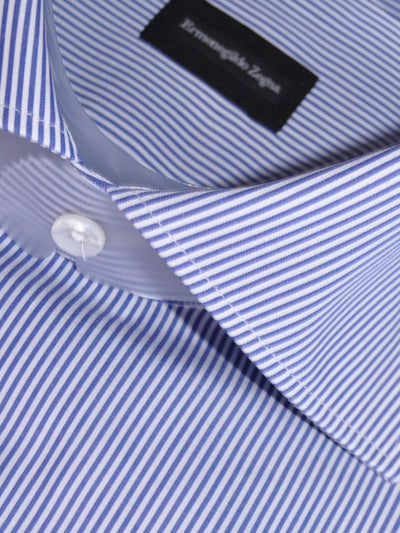 Ermenegildo Zegna Short Sleeve Shirt White Navy