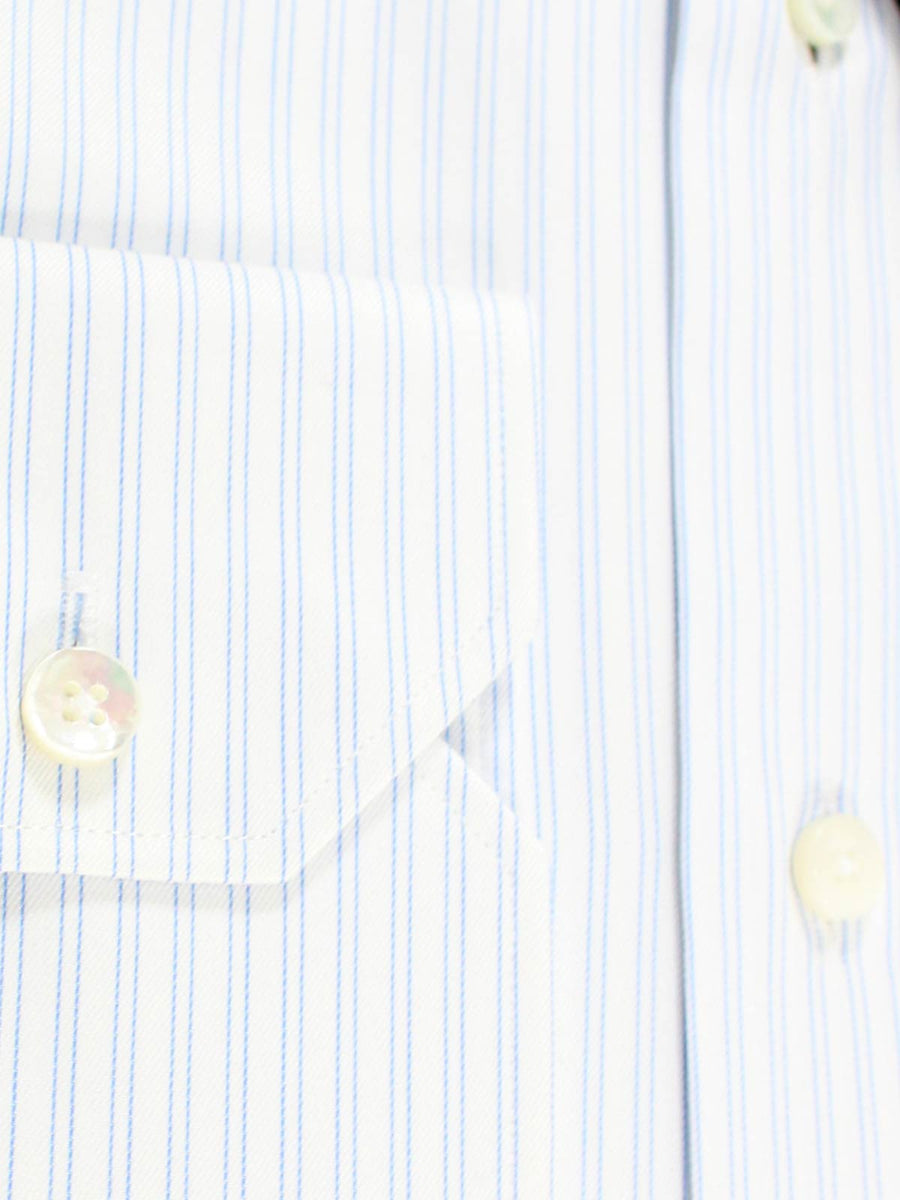 Ermenegildo Zegna Dress Shirt Trofeo - White Blue Stripes