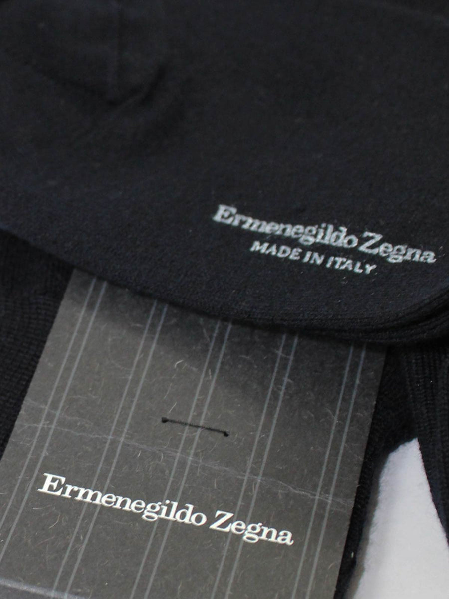 Ermenegildo Zegna Cashmere Socks Dark Blue Over The Calf