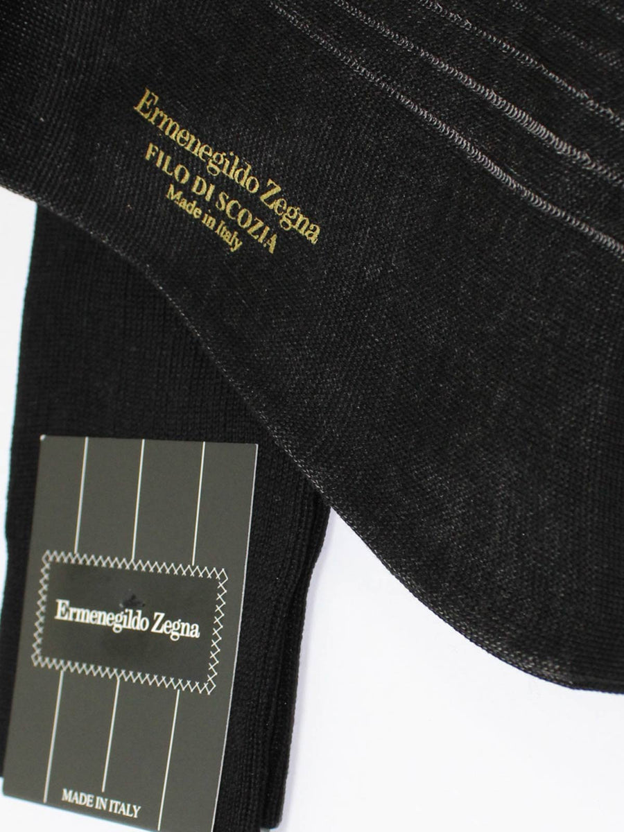 Ermenegildo Zegna Socks Black Gray Stripes