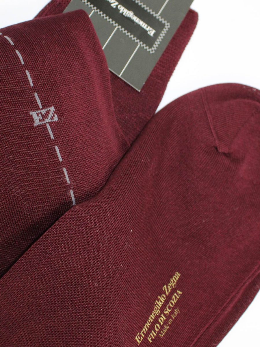 Ermenegildo Zegna Socks Bordeaux Gray - Over The Calf EUR 46 / US 12 1/2 SALE