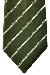 Ermenegildo Zegna Tie Green Stripes