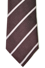 Ermenegildo Zegna Tie Duo Burgundy Stripes