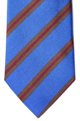 Ermenegildo Zegna Tie Royal Blue Stripes