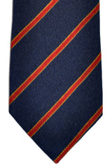 Ermenegildo Zegna Tie Navy Burgundy Stripes