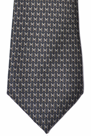 Zegna Tie Gray Taupe Butterfly Novelty Necktie SALE