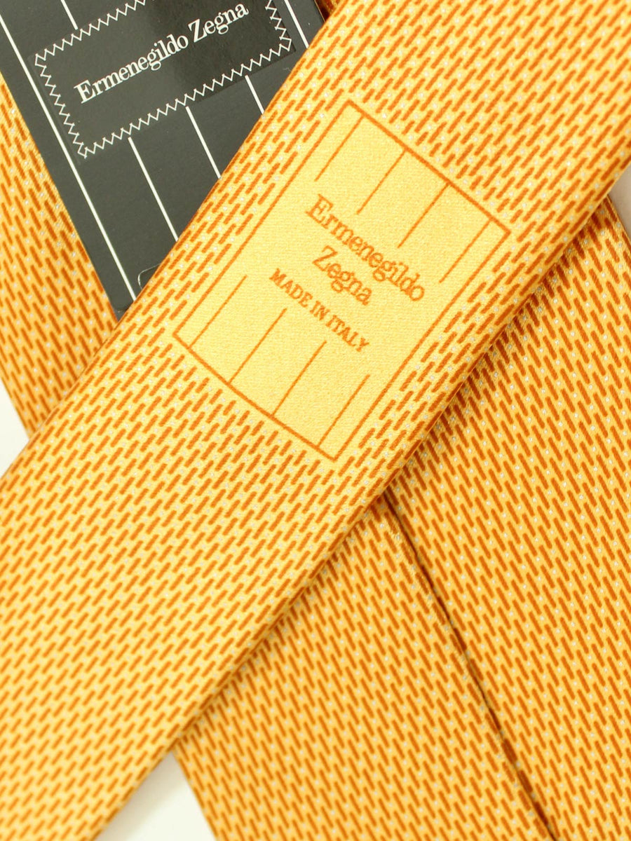 Ermenegildo Zegna Silk Tie Orange Brown Silver