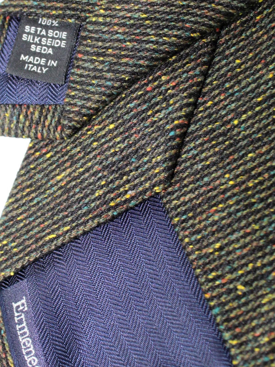 Zegna Tie Forest Green Speckle Design