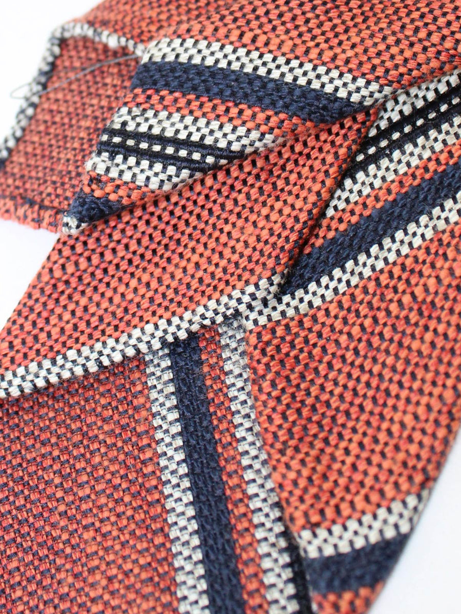 Ermenegildo Zegna Narrow Tie Rust Orange