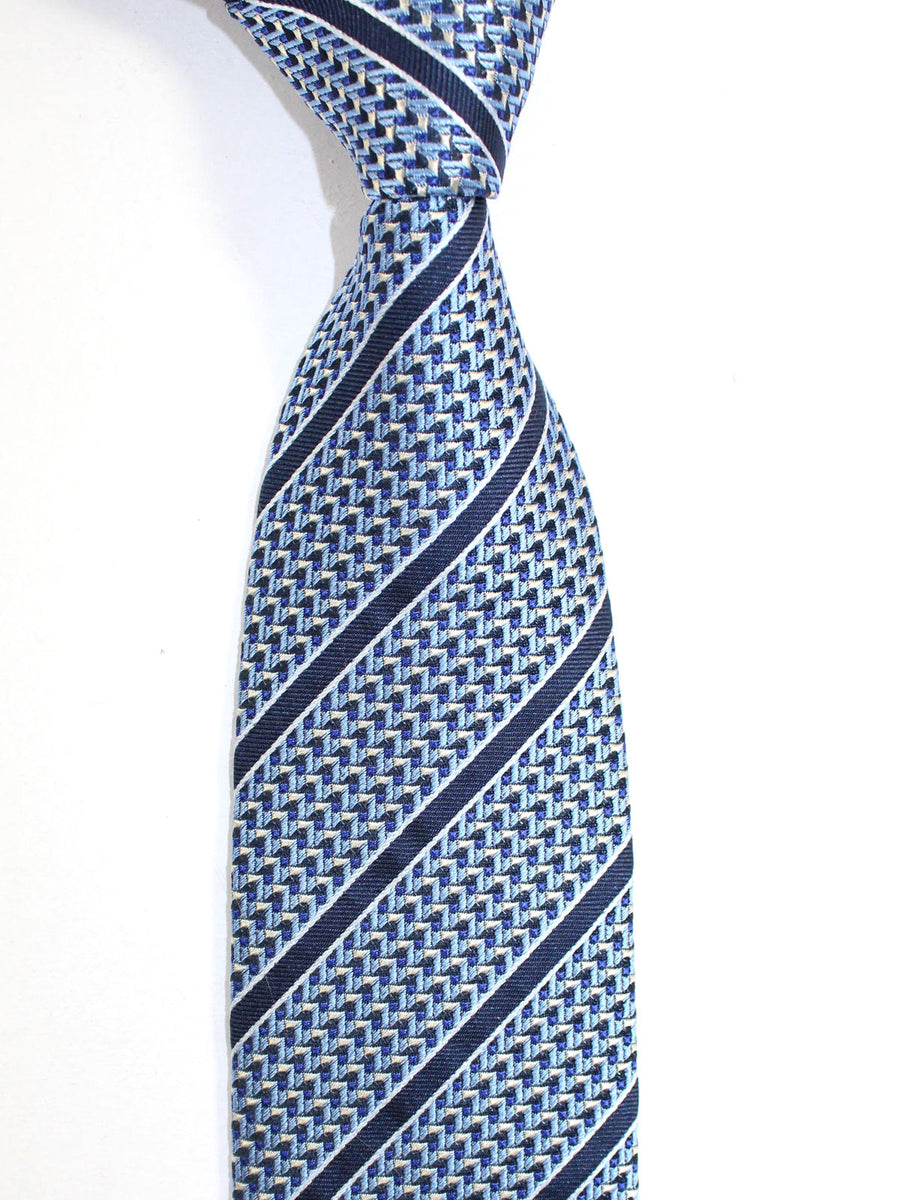 Ermenegildo Zegna Tie Blue Stripes Design