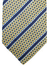 Ermenegildo Zegna Tie Mustard Gold Blue Stripes Design