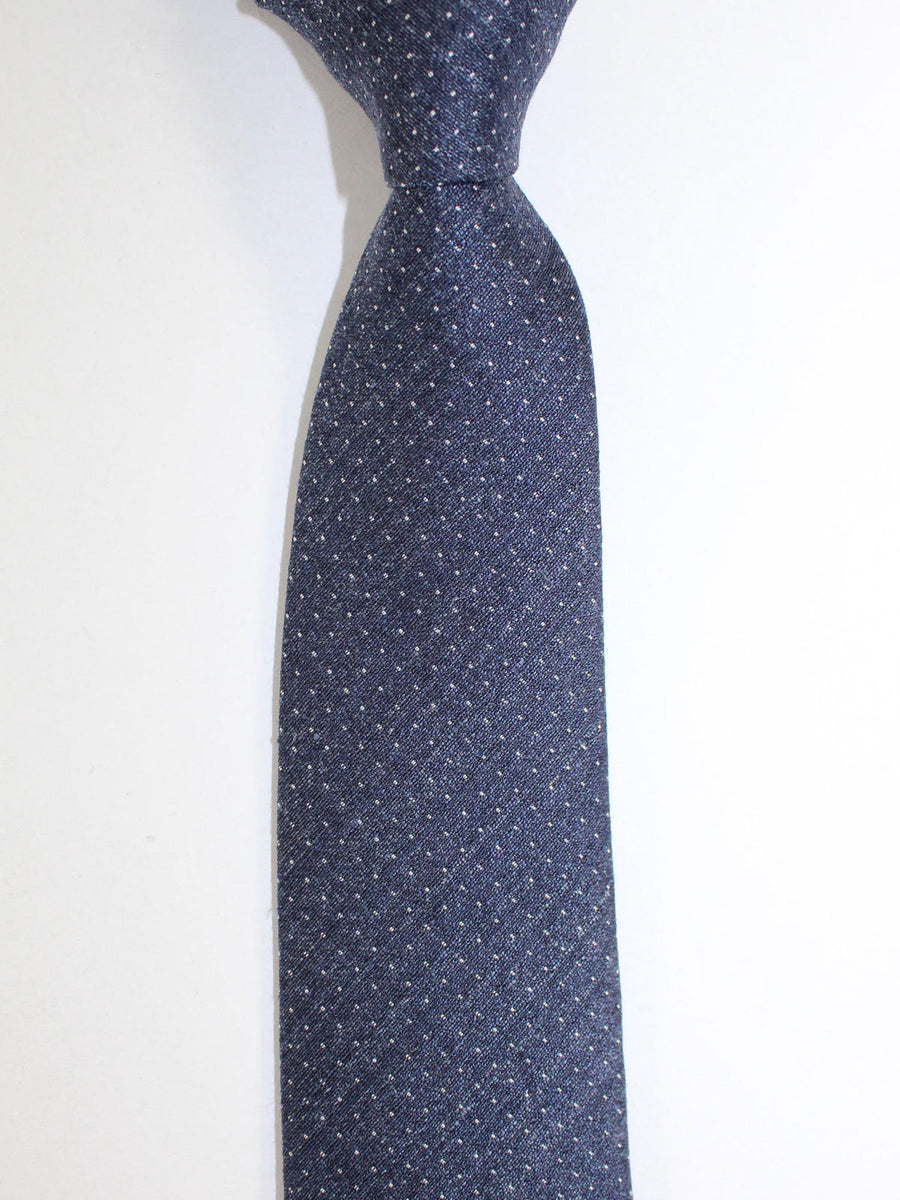 Ermenegildo Zegna Tie Black Blue Silver Mini Dots Design