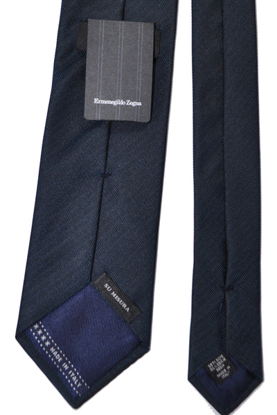 Ermenegildo Zegna Tie EXTRA LONG Gray Turquoise Stripes SALE