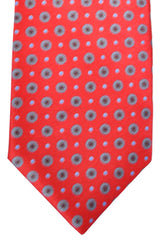 Ermenegildo Zegna Tie Dark Red Gray Maroon Blue Geometric