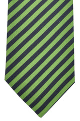 Ermenegildo Zegna Tie Navy Green Stripes