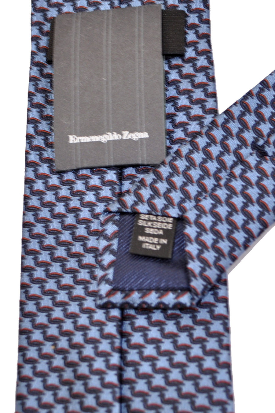 Ermenegildo Zegna Tie Blue Navy Brown Ducks
