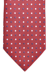 Ermenegildo Zegna Tie Dark Red Navy White Dots