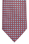 Ermenegildo Zegna Tie Red Navy Blue Geometric