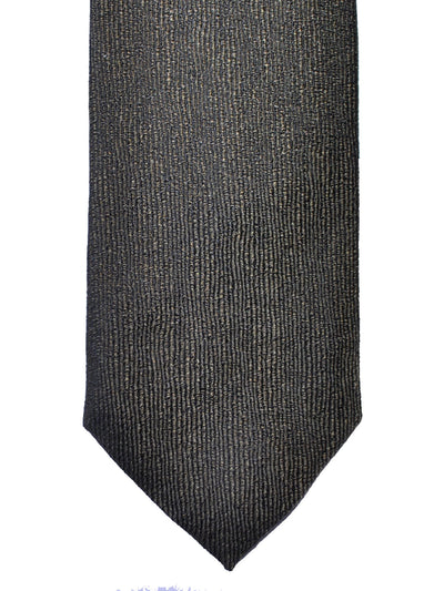 Z Zegna Tie Forest Green Grosgrain Narrow Necktie