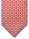 Ermenegildo Zegna Tie Rust Orange White Circles