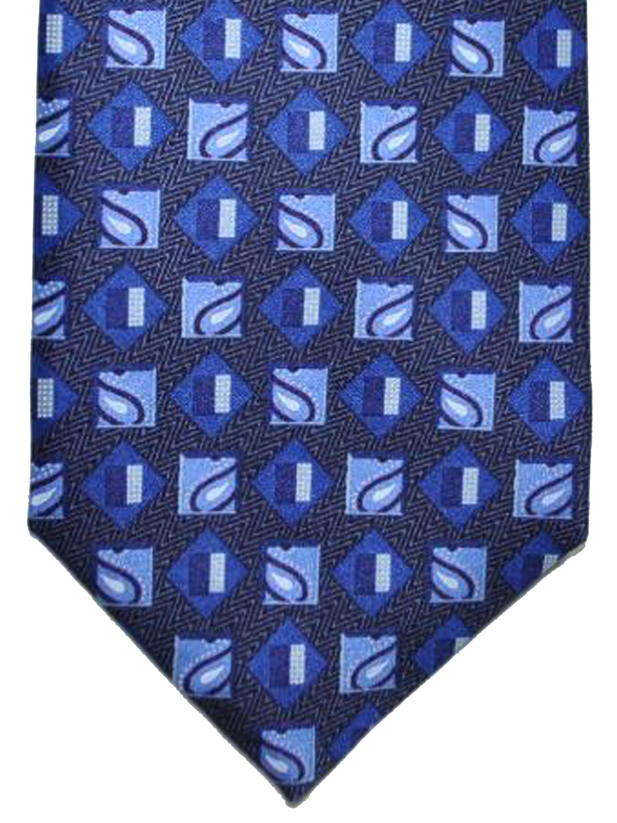 605cf63073 Ermenegildo Zegna Silk Tie Navy Royal Blue Geometric