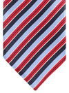 Ermenegildo Zegna Silk Tie Navy Sky Blue Red Stripes