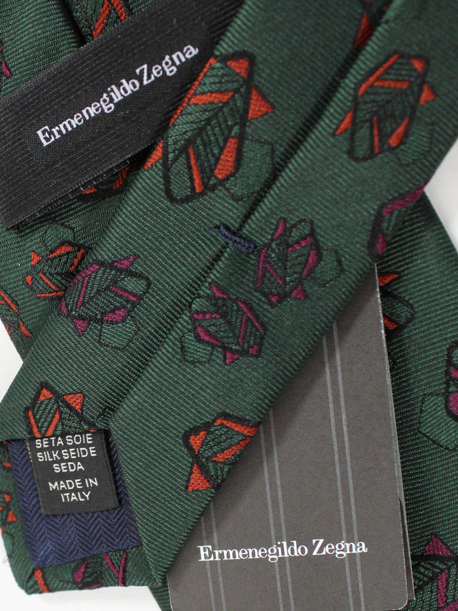 Ermenegildo Zegna Tie Green Leaves