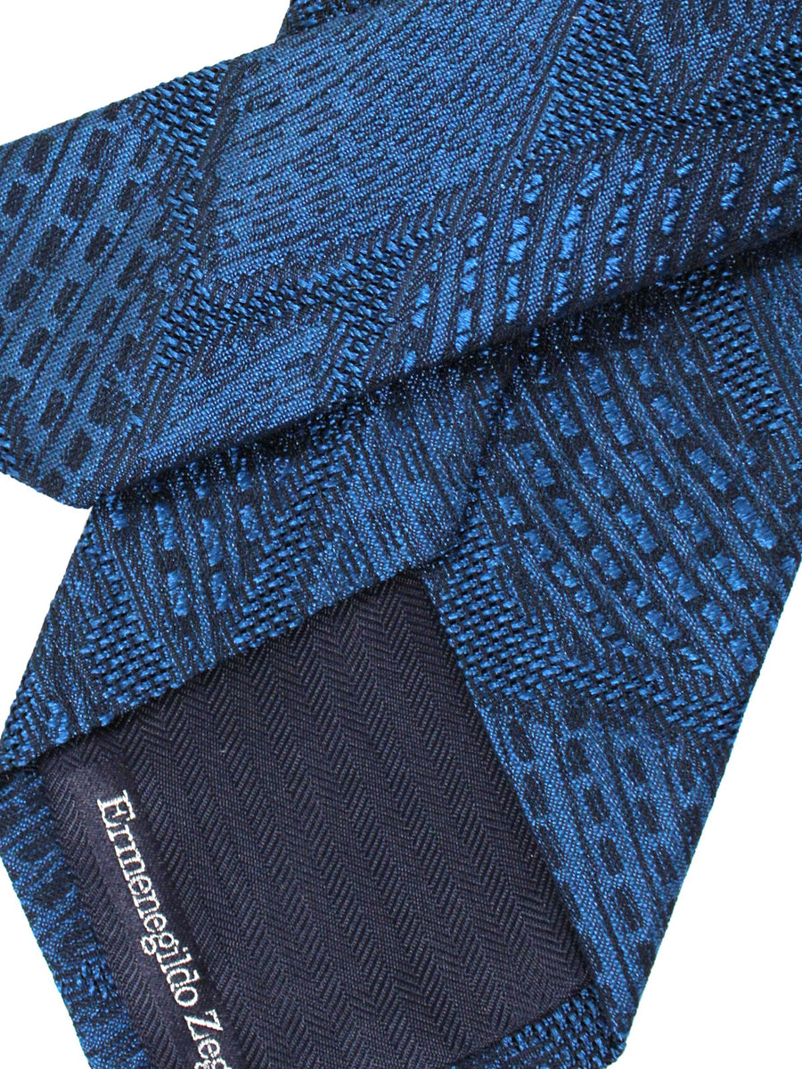 Ermenegildo Zegna Tie Navy Blue Leaves