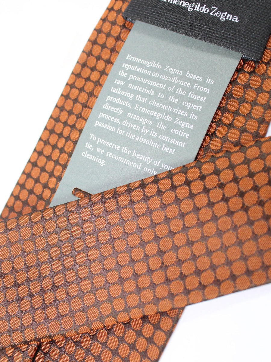Ermenegildo Zegna Silk Tie Brown Geometric