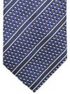 Ermenegildo Zegna Silk Tie Lapis Brown Silver Stripes