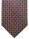 Ermenegildo Zegna Silk Tie Black Brown Silver Geometric