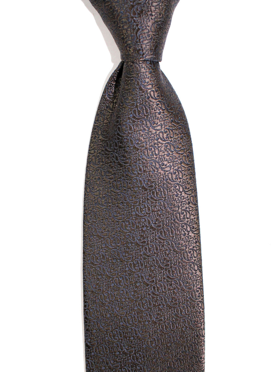 Ermenegildo Zegna Silk Tie Black Brown Paisley