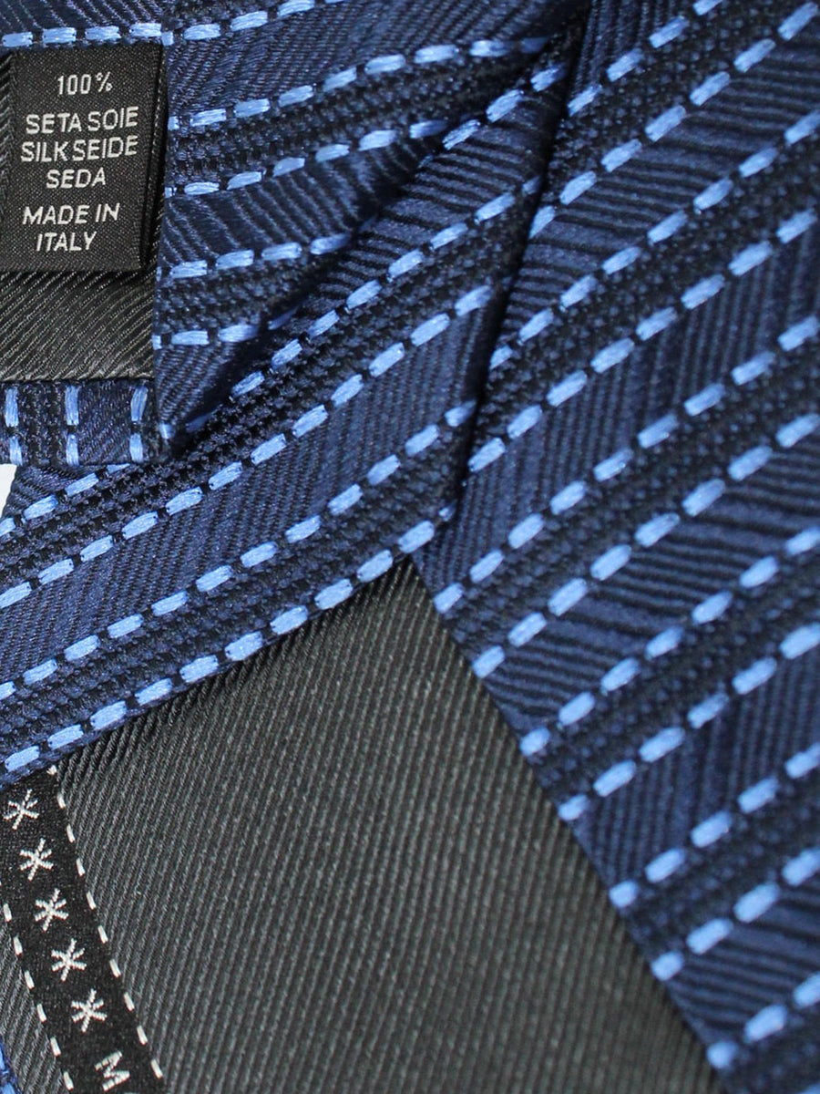 Ermenegildo Zegna Silk Tie Royal Navy Stripes