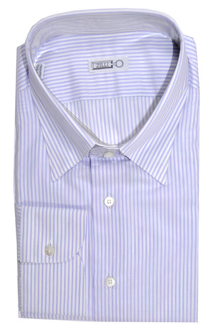 Zilli Shirt Lavender Pink Stripes Dress Shirt 44 - 17 1/2 SALE