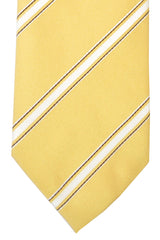 Pal Zileri Tie Yellow Silver Brown Stripes
