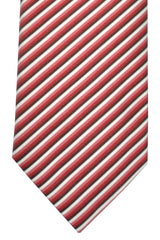 Pal Zileri Tie Pink White Red Stripes