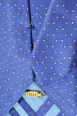Zilli Tie Navy Blue Geometric