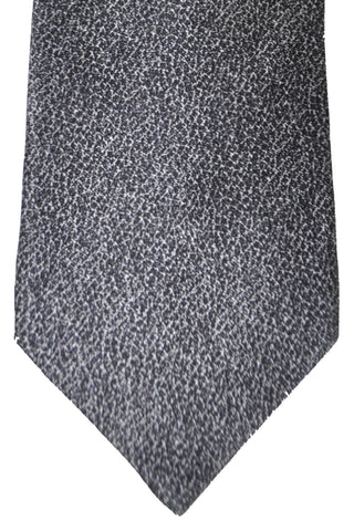 Zilli Tie Black Gray - Wide Necktie SALE