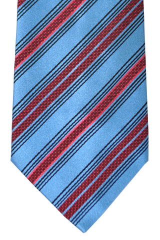 Zilli Tie Blue Red Pink Stripes SALE