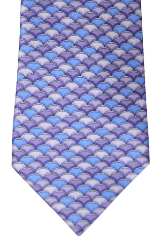 Zilli Tie Lilac Purple Blue Geometric