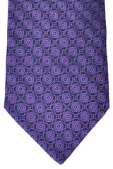 Zilli Tie Purple Geometric