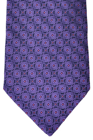 Zilli Tie Purple Geometric - Wide Necktie