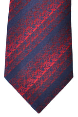 Zilli Tie Dark Navy Red Stripes