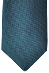 Zilli Tie Green Solid - Wide Necktie