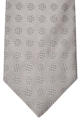 Zilli Tie Gray Black Dots - Wide Necktie