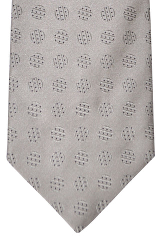 Zilli Tie Gray Black Dots - Wide Necktie SALE